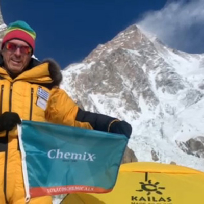 Chemix is supporting Antonis Sykaris in his effort to conquer K2